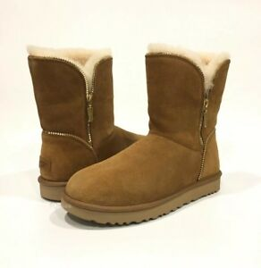 20f5a90537c Details about UGG 1013165 FLORENCE CLASSIC BOOTS CHESTNUT BROWN SUEDE /  SHEEPSKIN -US 11 -NEW