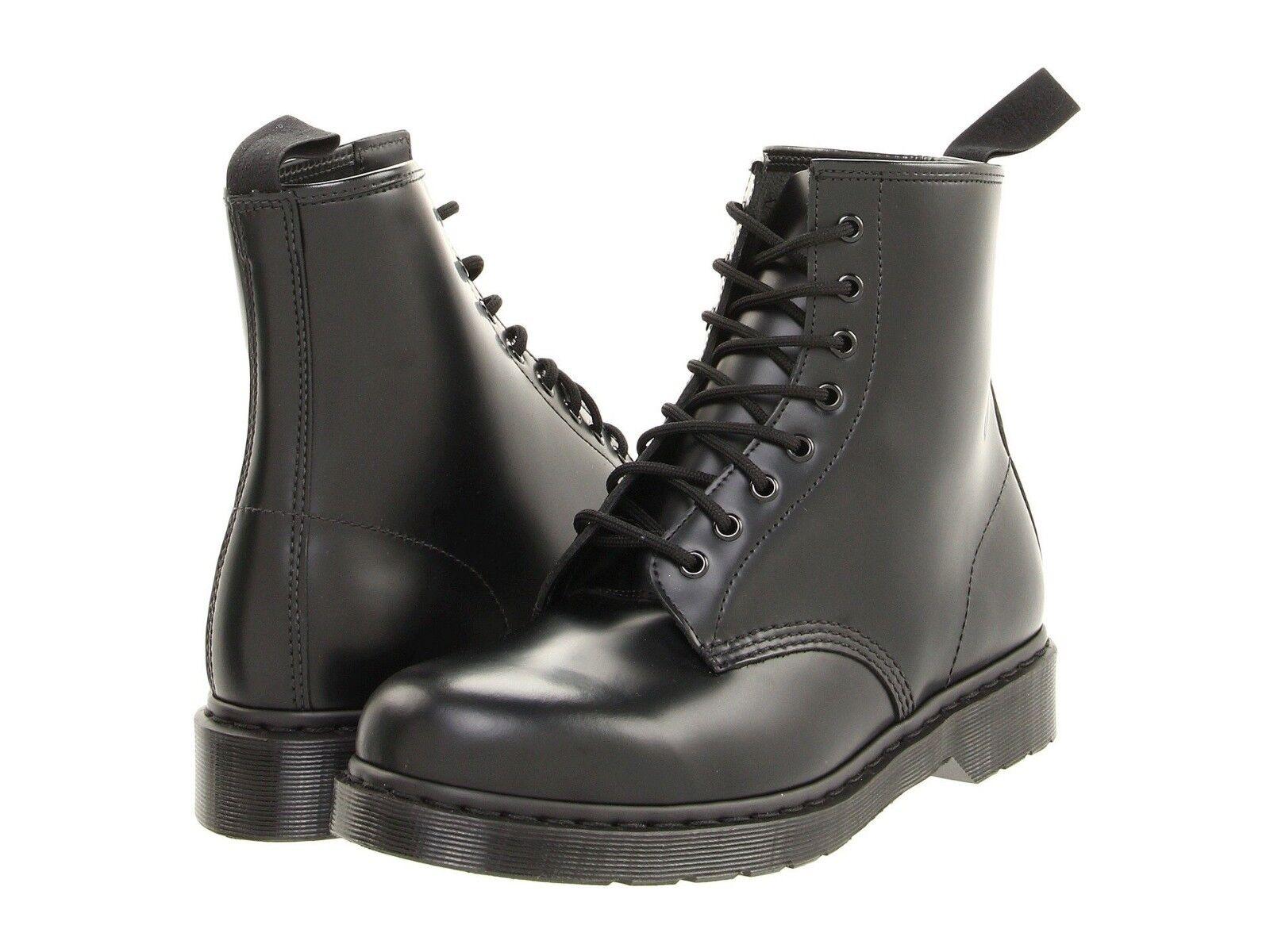Authentic Men's shoes Dr. Martens Mono 1460 8-Eye Black Leather Ankle Boots