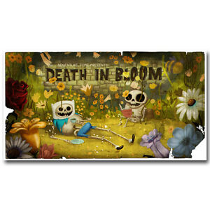 Adventure-Time-with-Finn-and-Jake-Skull-Hot-Cartoon-Silk-poster-13x24-20x36inch