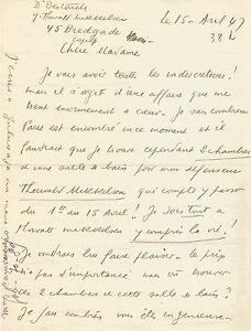 Louis-Ferdinand-CELINE-Lettre-autographe-signee-a-J-Daragnes-Sur-Mikkelsen