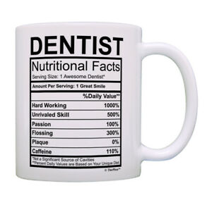 Nutritional Facts Mug Funny Dentists