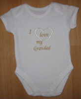 I Love My Grandad Baby Vest Grow Boy Girl Babies Clothes Cute Funny Gift
