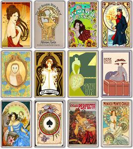 Art Nouveau Collection Of 12 Fridge Magnets