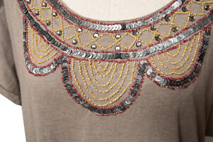 The-Territory-Ahead-Sequin-Beaded-Casual-Tunic-Brown-Dress-Keyenta-Knit-NEW-w-ta