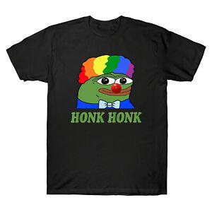 Clown-PEPE-pouet-pouet-honkler-meme-tee-shirt-homme-en-coton-noir-drole-TEE-graphique