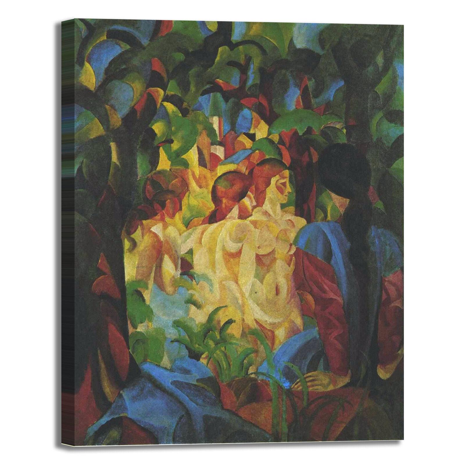 Macke ragazze fanno bagno design quadro stampa tela dipinto arRouge telaio arRouge dipinto o casa 1667e8