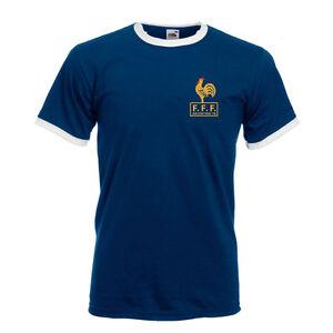 1f9106a0d96 Image is loading Retro-France-French-Football-Shirt-TShirt-Soccer-Retro-
