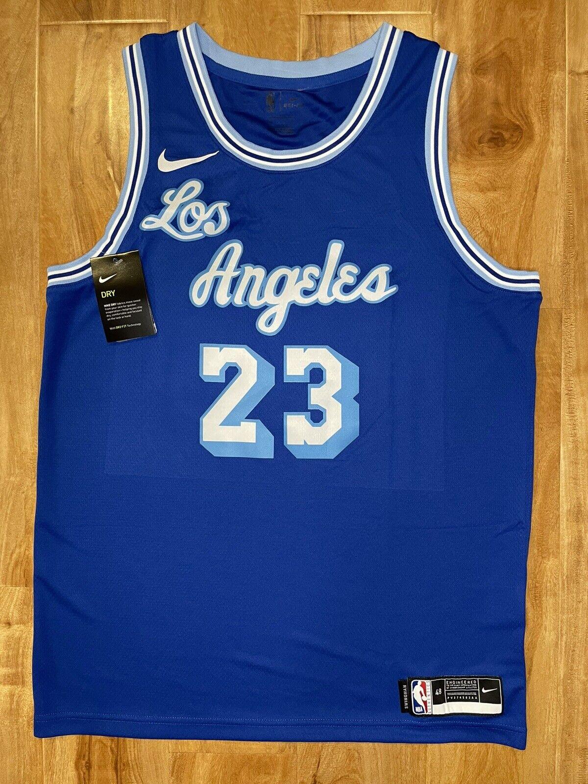 Lebron James 2020-2021 Los Angeles Lakers Blue Classic Nike ...