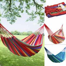 2er Set Hängematte Outdoor Garten Strand Hängeliege Reisehängematte 140 x 200 cm