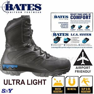 df2a3af60bc Details about Bates Tactical Swat Airport Friendly NO MEATAL work boots  Slip Resistant ICS