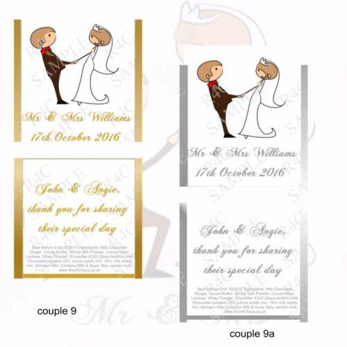 Mariée et marié-Chocolat Mariage Faveurs-Designs 9-15