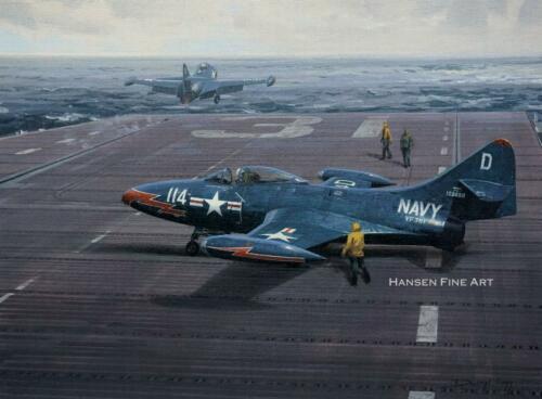 Grumman F9F Panther Limited Edition Aviation Painting Art Print Darryl Legg