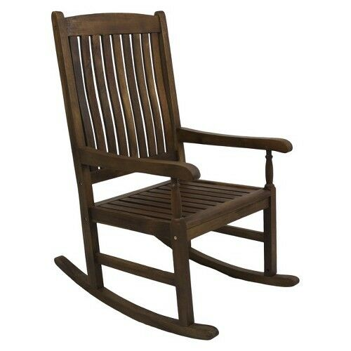 International Caravan Traditional Classic Wood High Back Porch Rocking Chair | eBay  sc 1 st  eBay & International Caravan Traditional Classic Wood High Back Porch ...