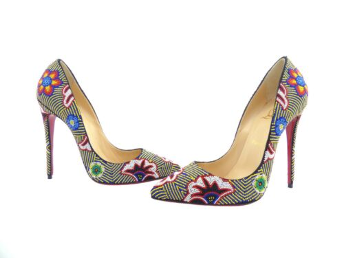 Christian 120 59 coloured Taos Louboutin Beaded Miss Multi Rrp Off pwtvFpq