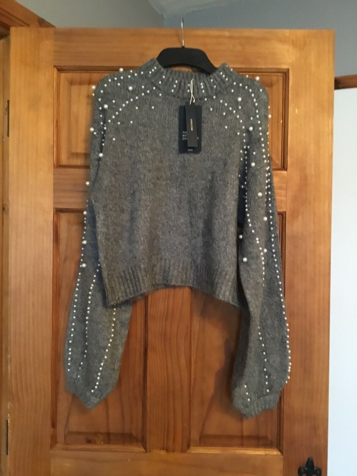 Zara Limited Edition Pearly Sweater Size S Brand New SOLD OUT