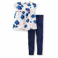 New Carter's 2 Piece Floral Tunic Top Stretch Leggings Set NWT 18m 24m 2T 3T 4T