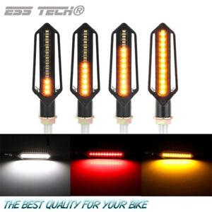 Clignotant-moto-LED-dynamique-Sequentiel-Orange-Drl-feux-de-jour-blanc-Ess-Tech