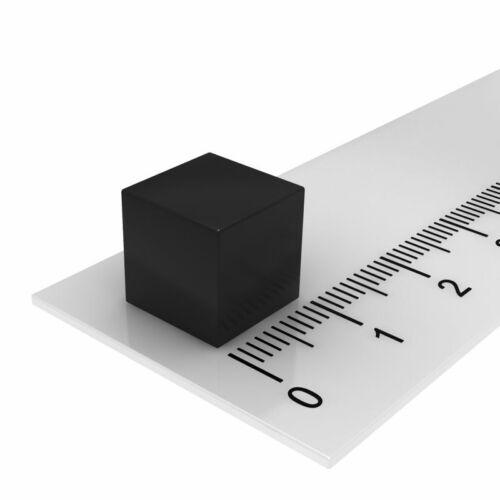 20x NEODYM WÜRFEL 10x10x10 mm MAGNET N52 SCHWARZE BESCHICHTUNG SEHR STARK