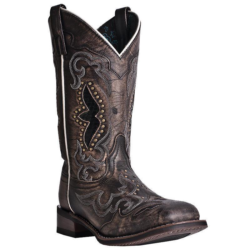 Laredo Spellbound 01-5660-BK10 Women's 11  Black Leather Cowboy Cowboy Cowboy Boots 2d9721