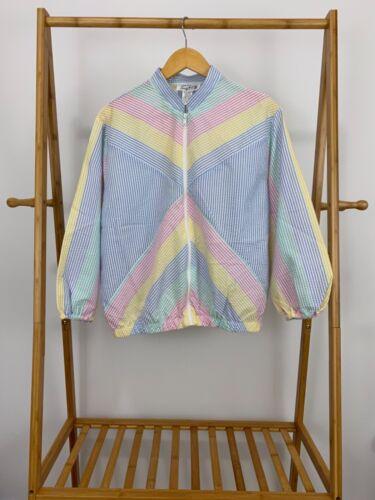 VTG 70s Saybury Technicolor Rainbow Seersucker Win