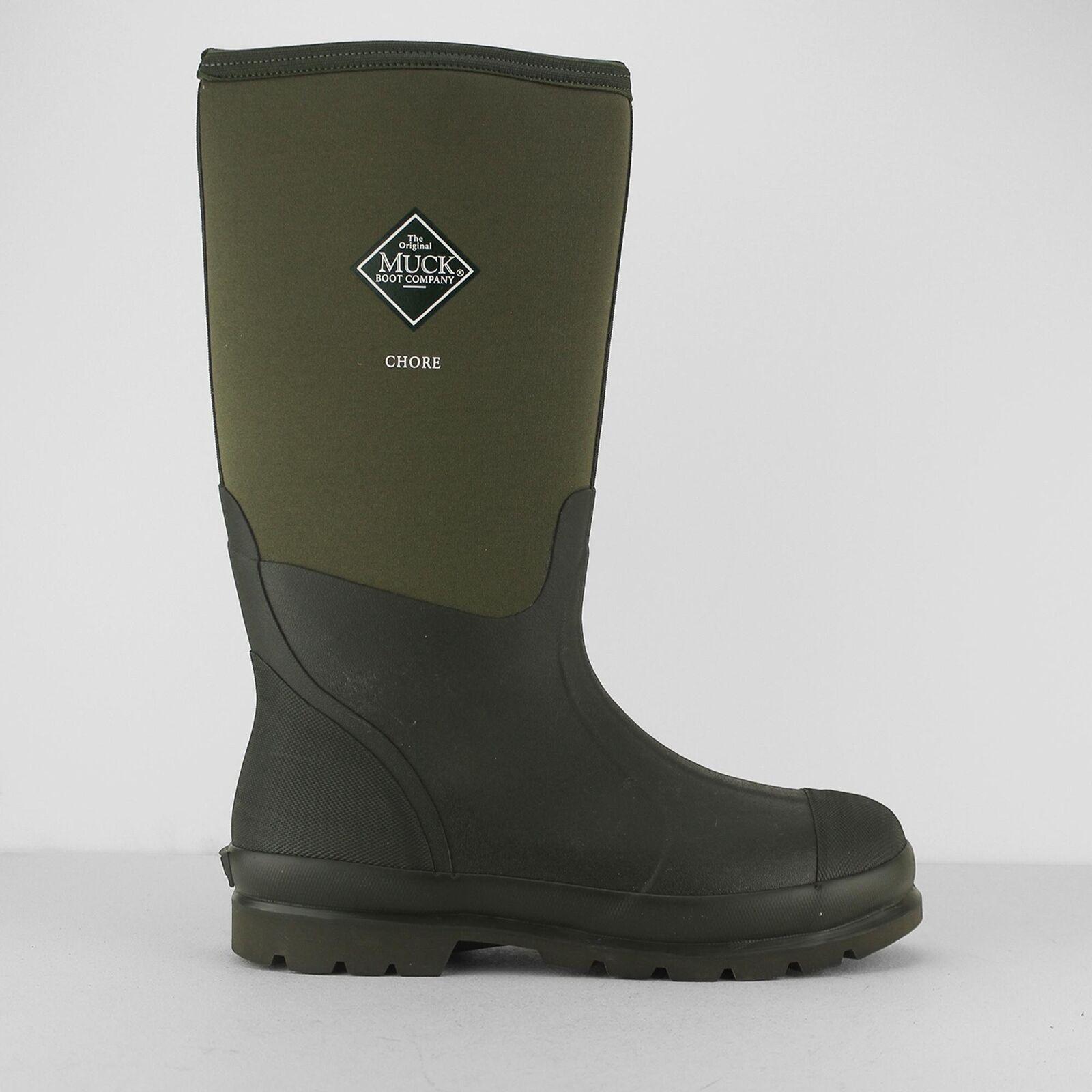 Muck botas tarea Hi para hombre de goma botas Wellington Impermeable Trabajo Fuerte Moss