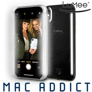 separation shoes 3a5e3 c5676 Details about LuMee DUO Case w/ Front & Back LED Lights For iPhone XS Max -  Black Glitter