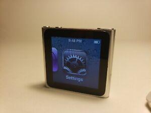Apple 8gb Ipod Nano 6th Generation Silver Mc688ll A1366 Ebay