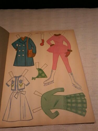 vintage 1964 Sandy cut out doll book