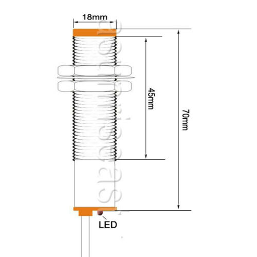 Capacitive Proximity Switch Sensor 10mm 3Wire PNP NO DC6-36V 18mm LJC18A3-B-Z//BY
