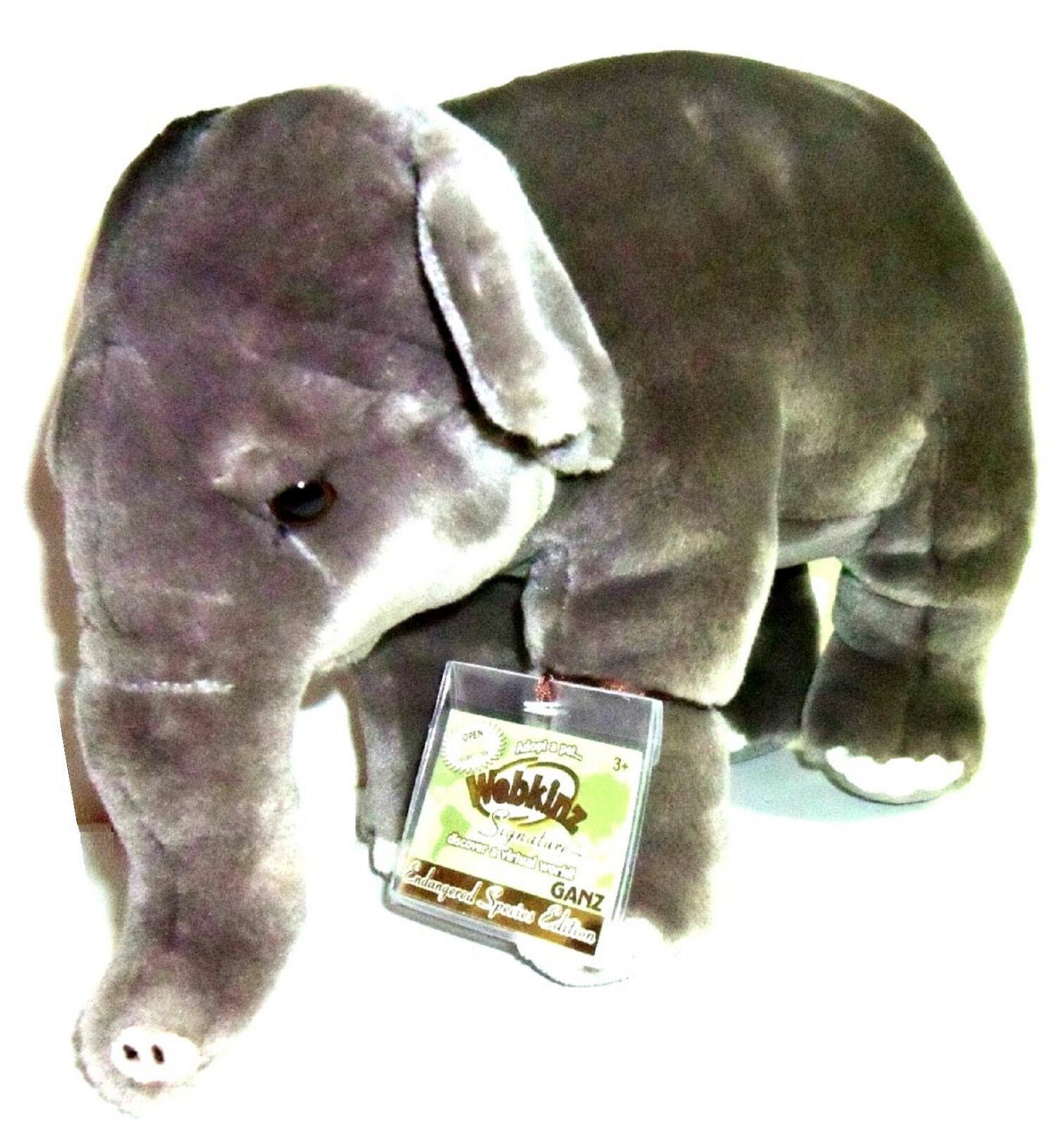 Webkinz Signature EndangeROT Asian Elephant New Tag NWT