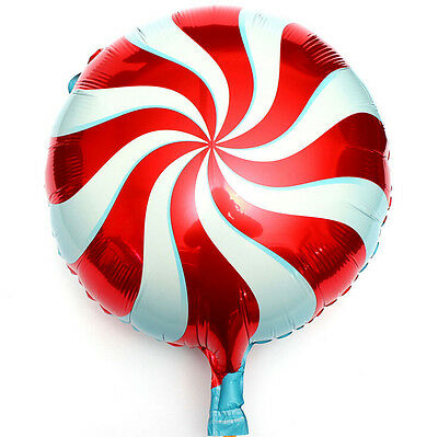 18 inch Lollipops Peppermint Candy Swirl Birthday Party Decoration Balloons YE07