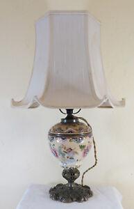 Lamp Antique Abat Jour Table Desk Bedside Table Living Room In