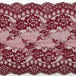 Burgundy-Wine-Lace-Clipped-Wide-Delicate-7-5-034-19-cm-Trim-Table-Runner-Lingerie
