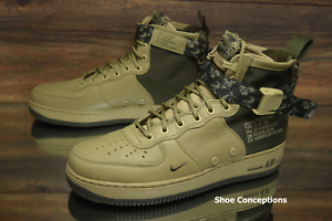 Nike SF Air Force 1 Mid Olive Camo 917753-201 Men's shoes - Size 9