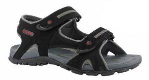 owaka Uomo Rosso passeggio sandali nero Grigio Rosso Uomo 74243d