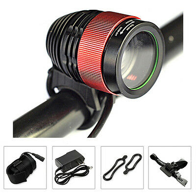 Zoomable 5000Lm CREE XM-L LED Cycling Light Bicycle Head light Headlamp Lamp