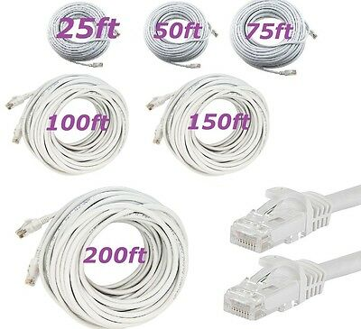 3FT Cat6 White Patch Cord Cable 500Mhz Network Ethernet Router LAN Switch