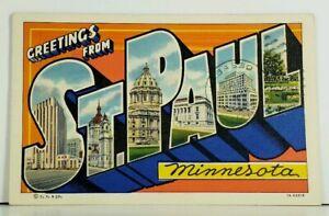 MN-ST-PAUL-MINNESOTA-Large-Letter-Greeting-1940-Postcard-A2