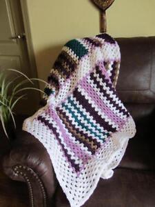 fun colorful crochet afghan throw blanket ebay