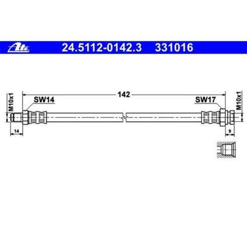 Original ATE 24.5112-0142.3 Bremsschlauch für OPEL