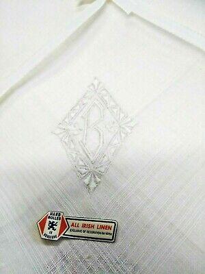 6 Or 12. New Men/'s Handkerchief All Irish Linen White Pack of 3