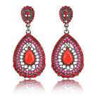Fashion 925 Sterling Silver Round Charming Women Hoop Dangle Earrings Jewelry AU