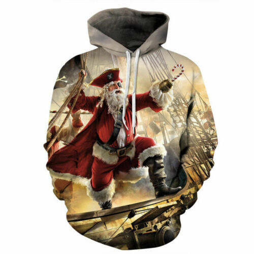 Womens//Mens Cosplay christmas 3D Print Casual Hoodies Sweatshirt Pullover Gift