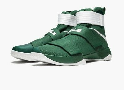 newest 2b512 03496 Nike Lebron Soldier 10 High Top Basketball Shoes, Green/White, Size 17 |  eBay