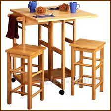 Breakfast bar table set stools kitchen space saver small island breakfast bar table set stools kitchen space saver small island dining drop leaf watchthetrailerfo