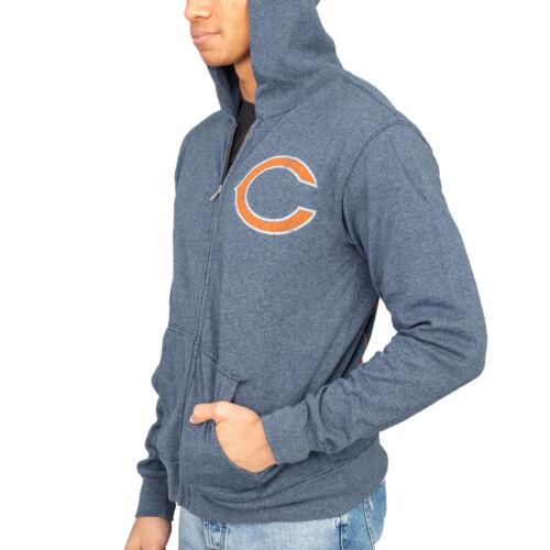 Adulte Unisexe Junk Food Chicago Bears Football Adulte Bleu Marine à Capuche Sweat