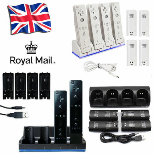Rechargeable Battery Packs /& Dual Charger Charging Dock Suits For Wii Remote UK