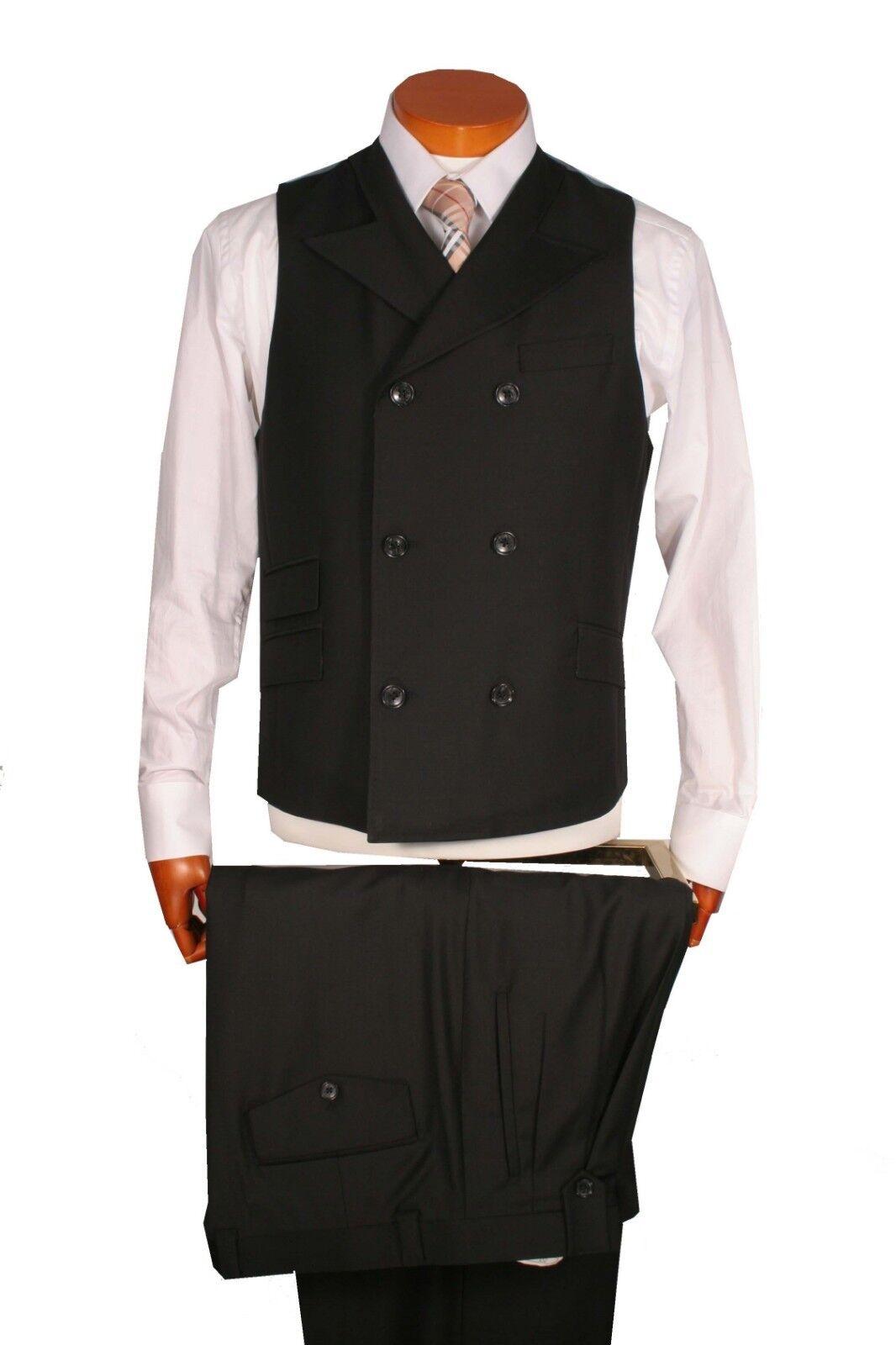 Men's Vest +Wide Leg Pants 100% Wool , Vest size.L, Pants Size 36 Art. SA490