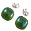 Glass-Earrings-Emerald-Green-Iridescent-Metallic-Teal-Green-Post-1-4-034-8mm-STUDS thumbnail 4
