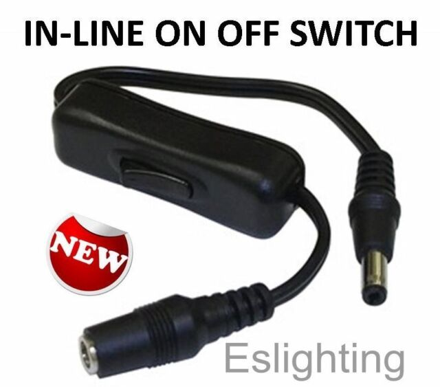 12V LED STRIP LIGHT BAR ON OFF SWITCH MALE FEMALE CONNECTORS CAMPING TENT BARS